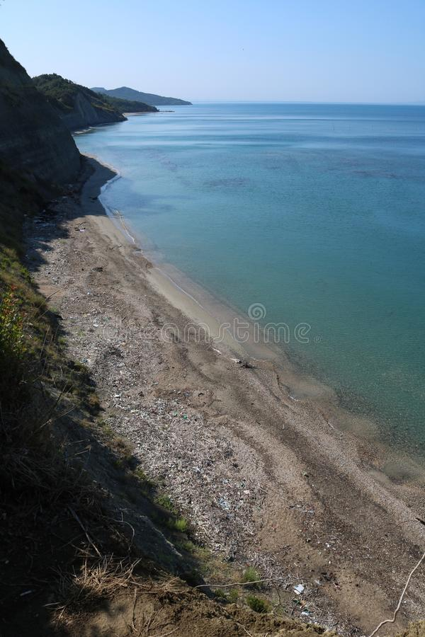 Adriatic coast Albanian riviera, Cape of Rodon royalty free stock image