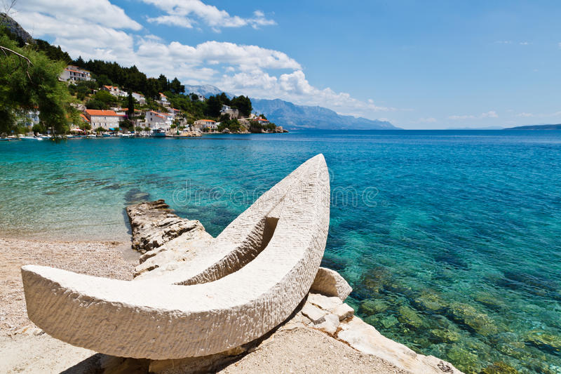adriatic lazur zatoki łódkowaty biel obrazy royalty free