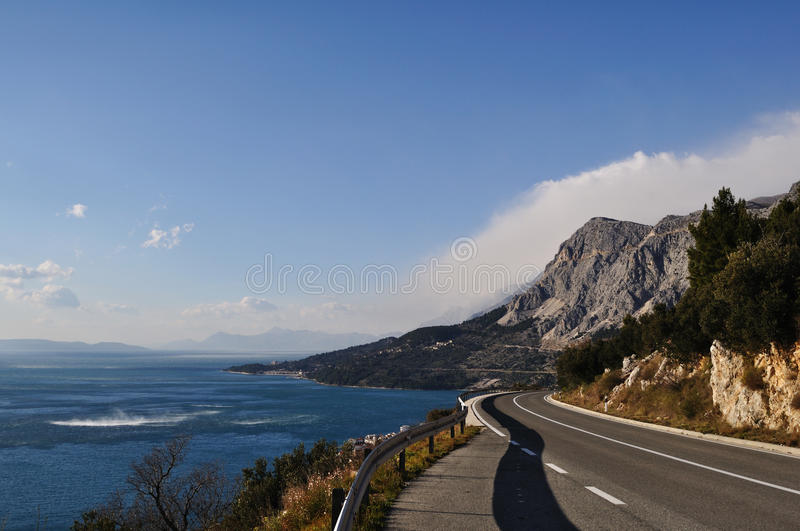 Adriatic route, Croatia stock photo