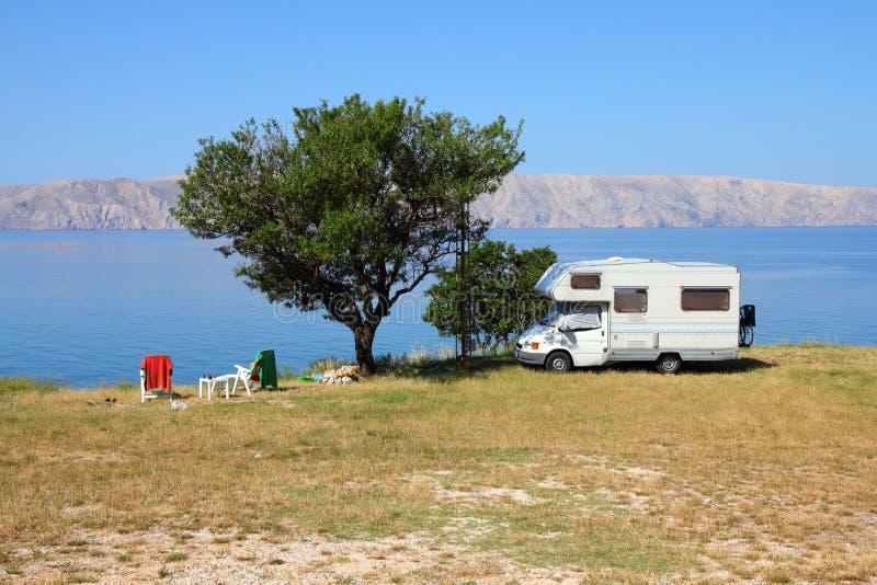 Adriatic Sea camping stock images