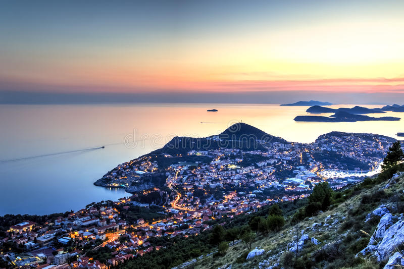 The Adriatic sea and Dubrovnik royalty free stock image