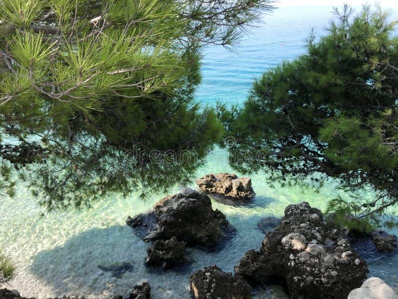Adriatic sea, Makarska riviera, Dalmatia, Croatia royalty free stock photo
