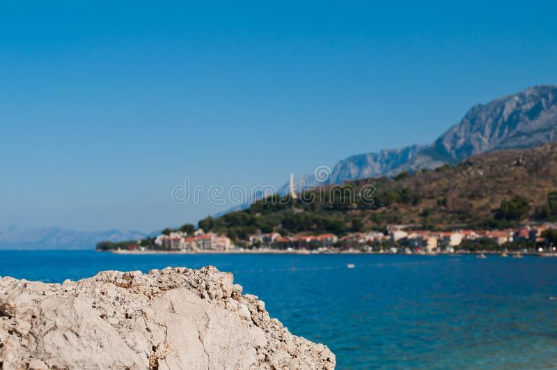 Adriatic sea at Podgora in Croatia royalty free stock photography