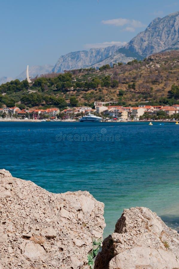 Adriatic sea at Podgora in Croatia royalty free stock photo