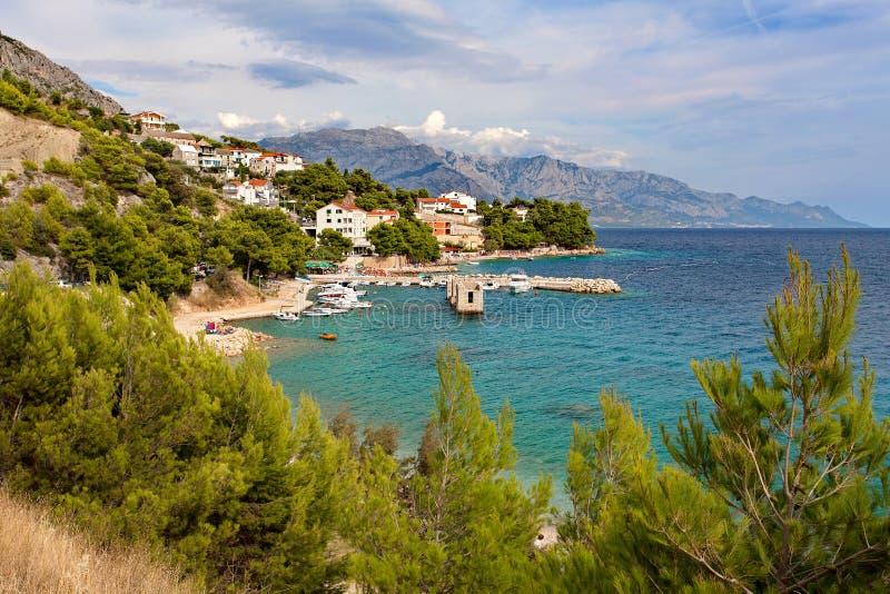 Adriatic sea at sunset - Makarska Riviera Dalmatia Croatia royalty free stock photos