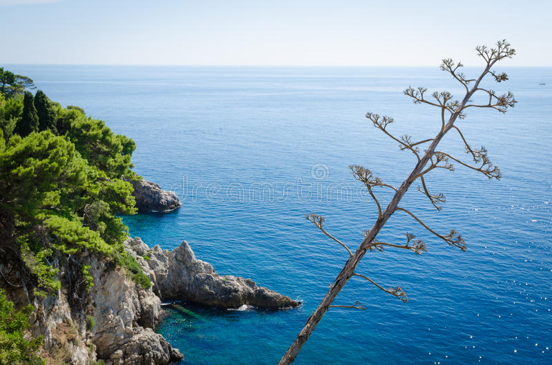 Adriatic sea view royalty free stock images