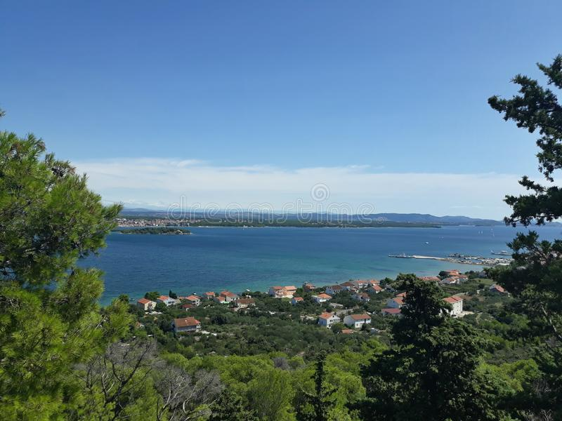 View of the Adriatic Sea stock image