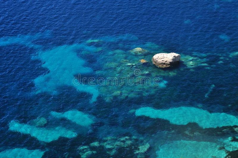 Adriatic sea water background royalty free stock photos