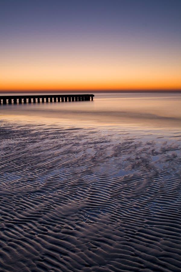 Adriatic sunrise - Lido de Jesolo, Italy. A beautiful relaxing sunrise on the beach of Lido de Jesolo, near Venice, Italy stock photos