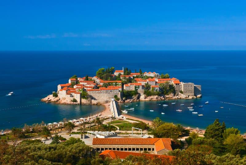 adriatic wyspy Montenegro denny Stefan sveti obrazy royalty free