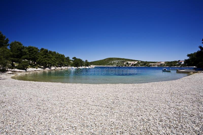 Adriatisch strand royalty-vrije stock afbeeldingen