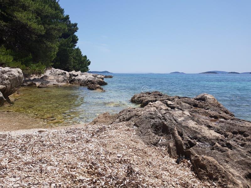 Adriatische kust royalty-vrije stock fotografie