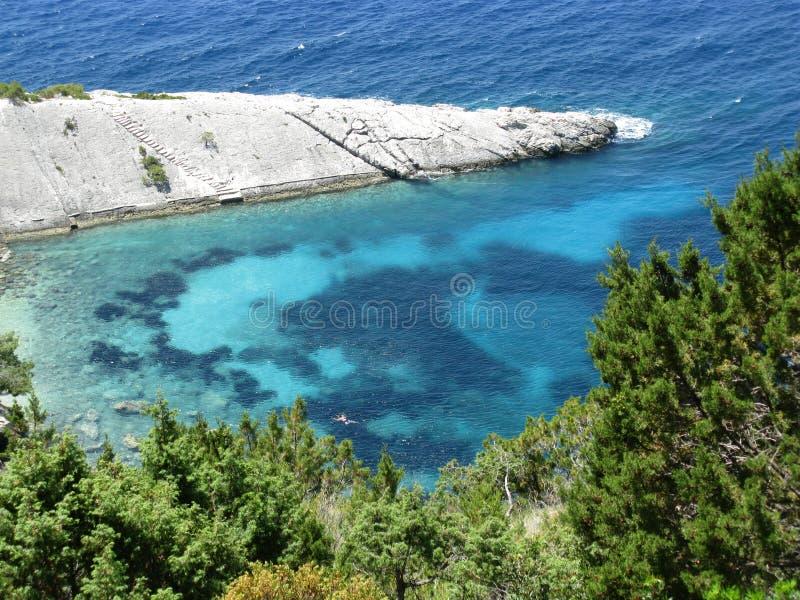 Adriatische overzees van Kroatië royalty-vrije stock afbeeldingen