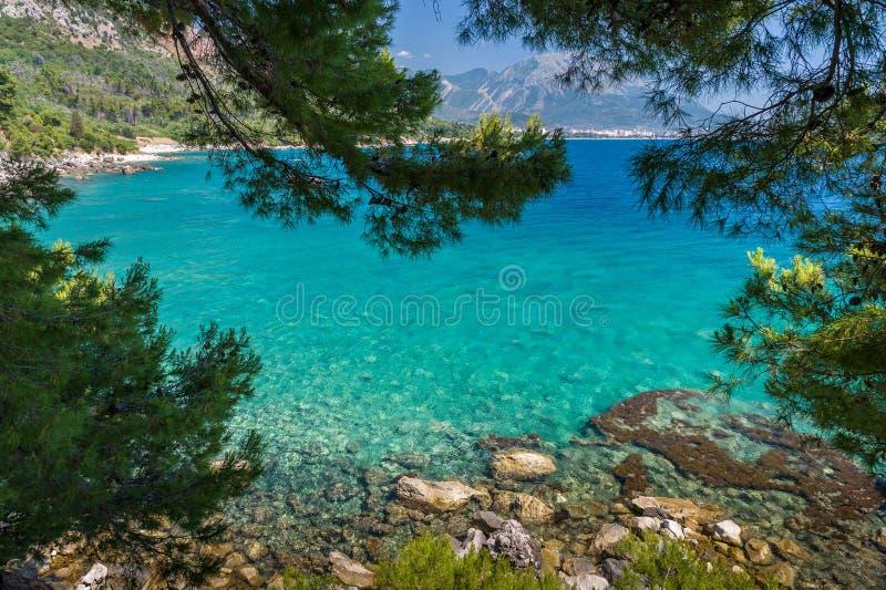 Adriatische overzeese baai stock afbeeldingen