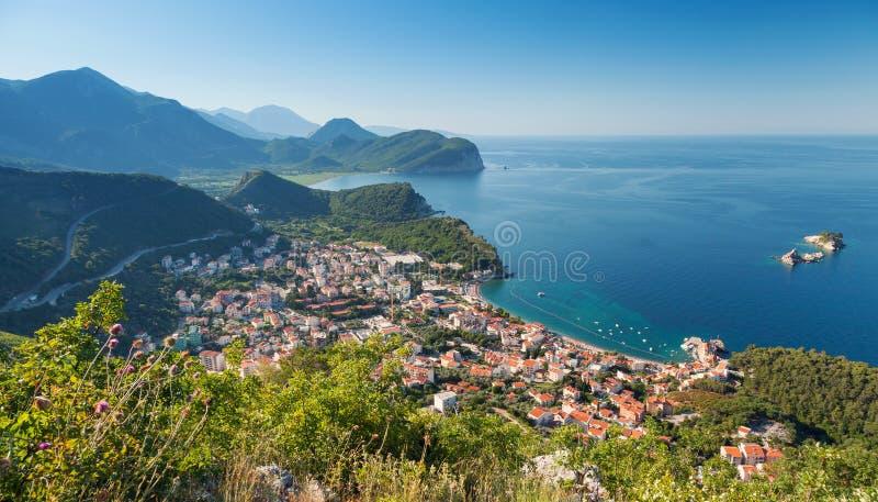 Adriatische Overzeese Kust stock foto