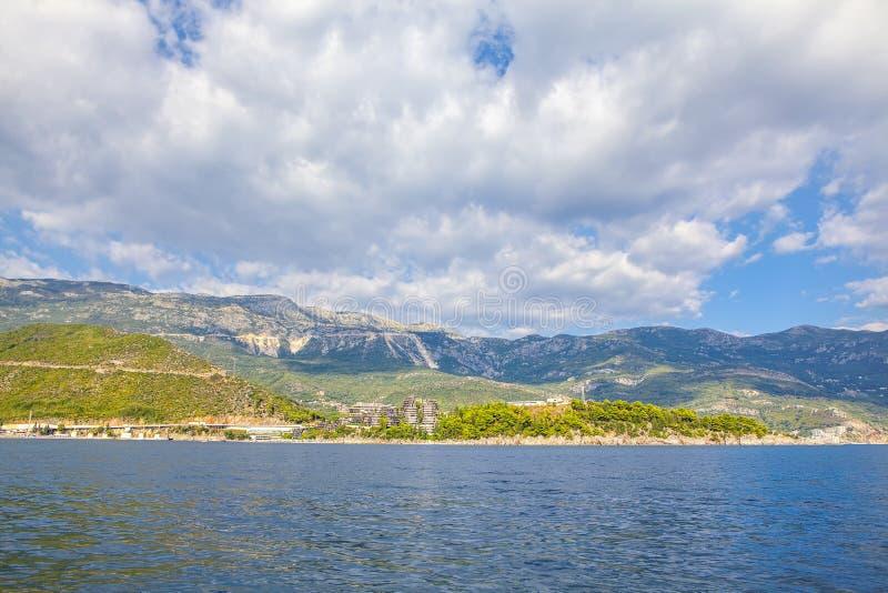 Adriatische overzeese kust royalty-vrije stock afbeelding