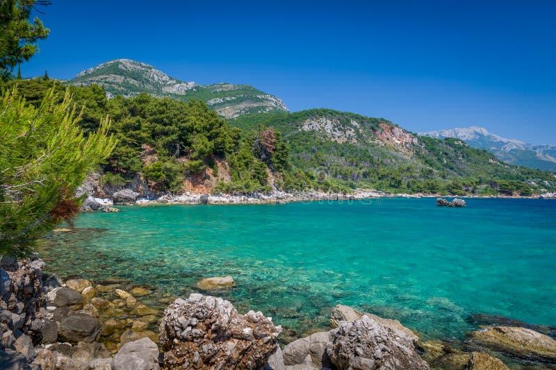 Adriatische overzeese kustmening royalty-vrije stock foto