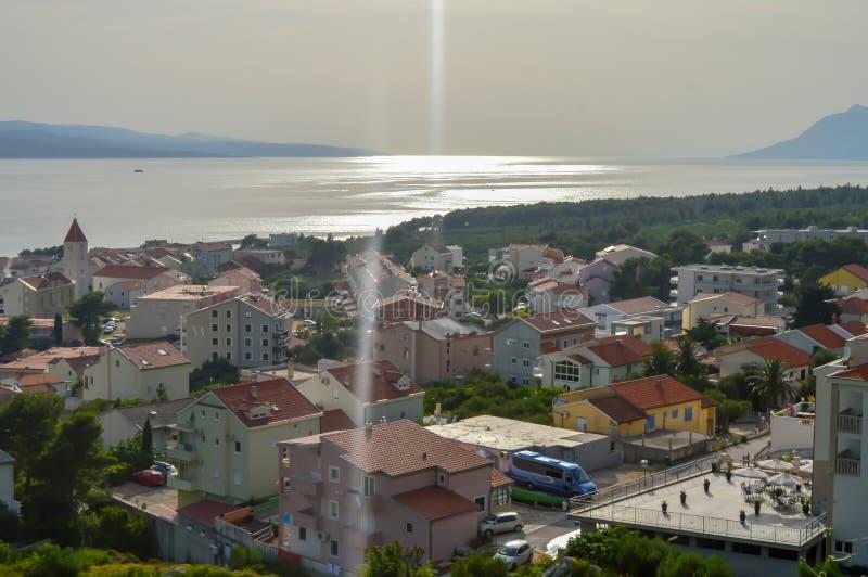 Adriatische Seeküste Makarska Riviera von Dalmatien lizenzfreies stockbild