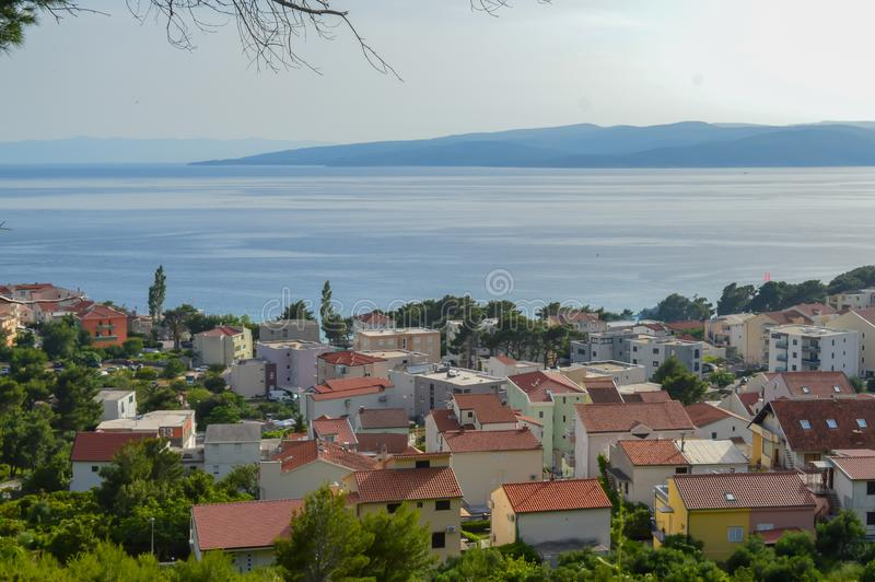 Adriatische Seeküste Makarska Riviera von Dalmatien lizenzfreie stockbilder