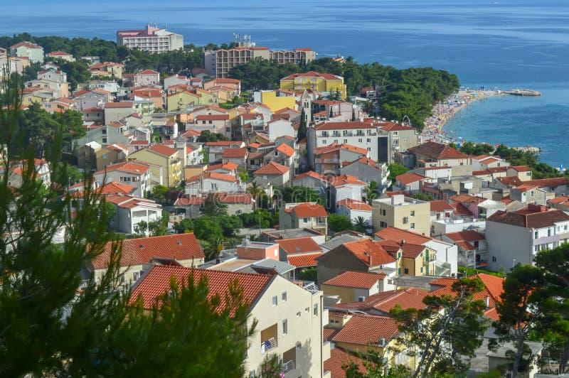 Adriatische Seeküste Makarska Riviera von Dalmatien lizenzfreie stockfotografie