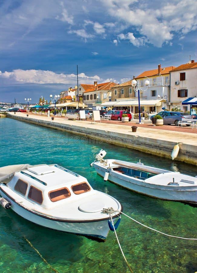 Adriatische stad van Biograd de waterkant van Namoru royalty-vrije stock fotografie