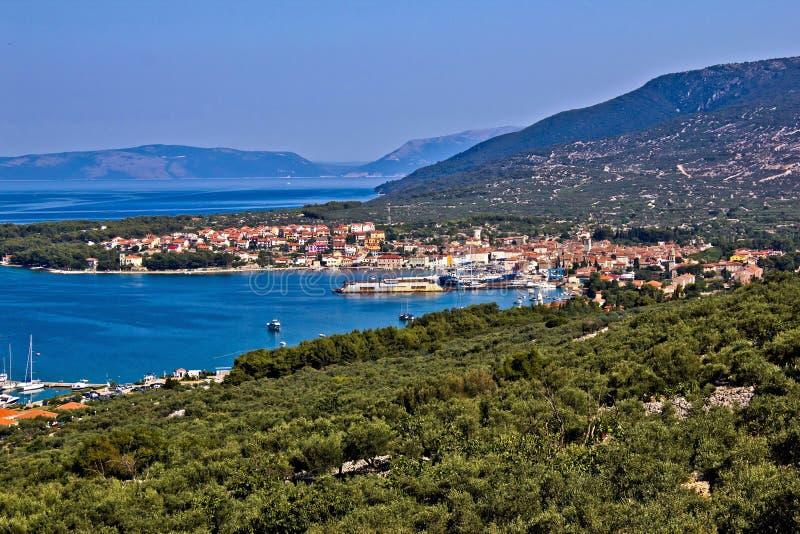 Adriatische Stadt des Cres Schachtes lizenzfreies stockfoto