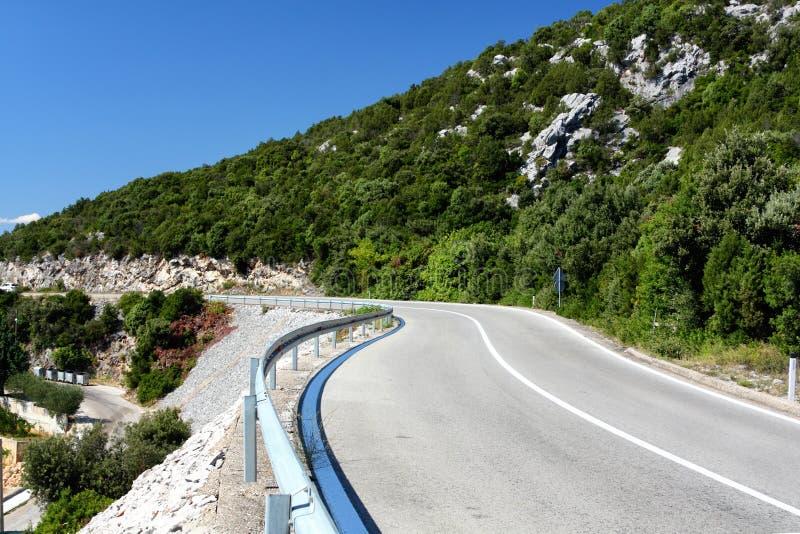 Adriatische Straße lizenzfreie stockbilder
