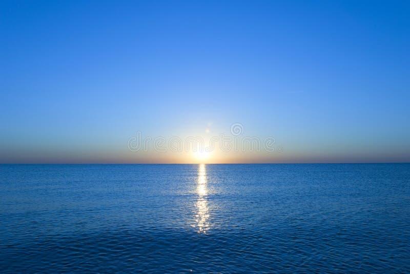 Adriatische zonsopgang stock foto's