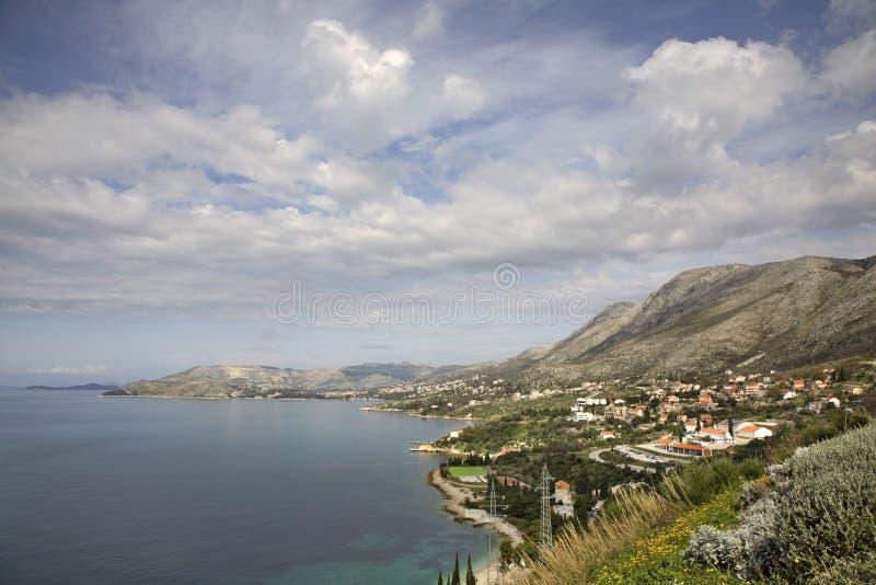 Adriatisches Meer nahe flechten dalmatia kroatien stockfotografie