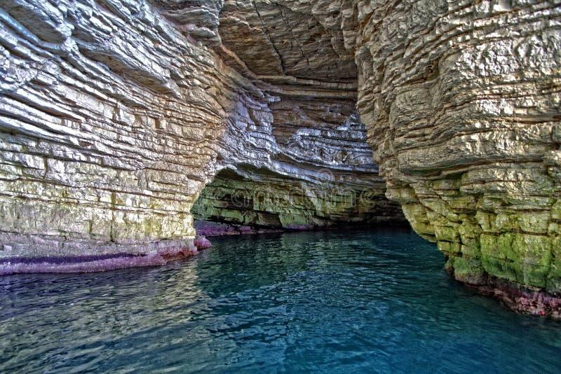 Adriatiskt havgrotta arkivfoton