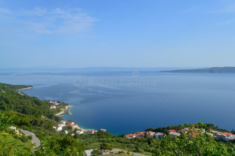 Adriatiskt havkust Makarska riviera av Dalmatia royaltyfri bild