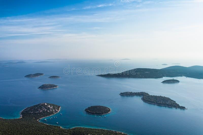 Adriatycka krajobrazowa antena obrazy stock