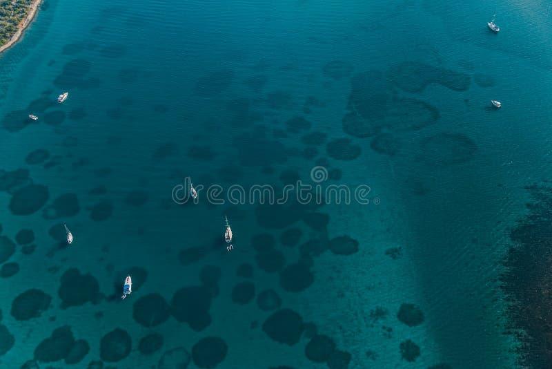 Adriatycka krajobrazowa antena zdjęcie royalty free