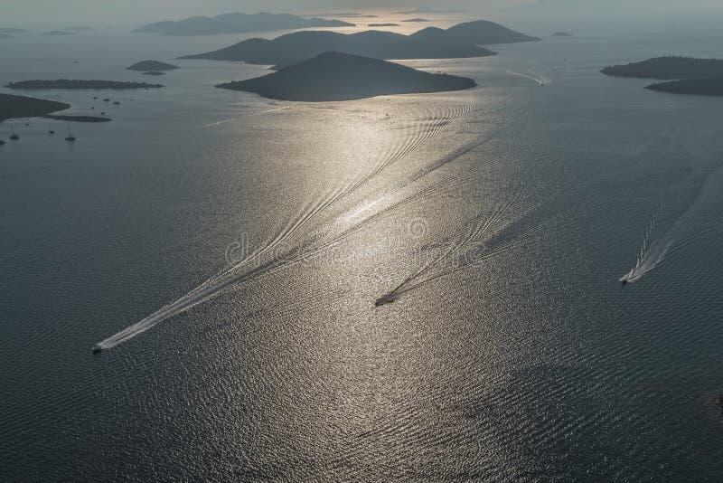 Adriatycka krajobrazowa antena fotografia royalty free