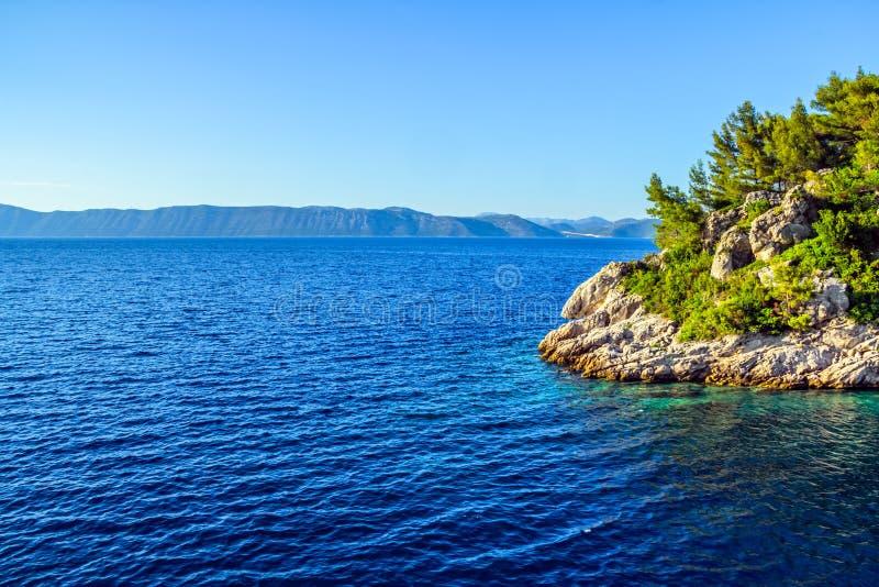 Adriatycki krajobraz obraz royalty free
