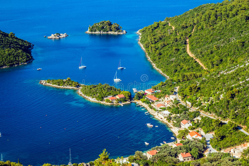 Adriatycki krajobraz zdjęcia royalty free