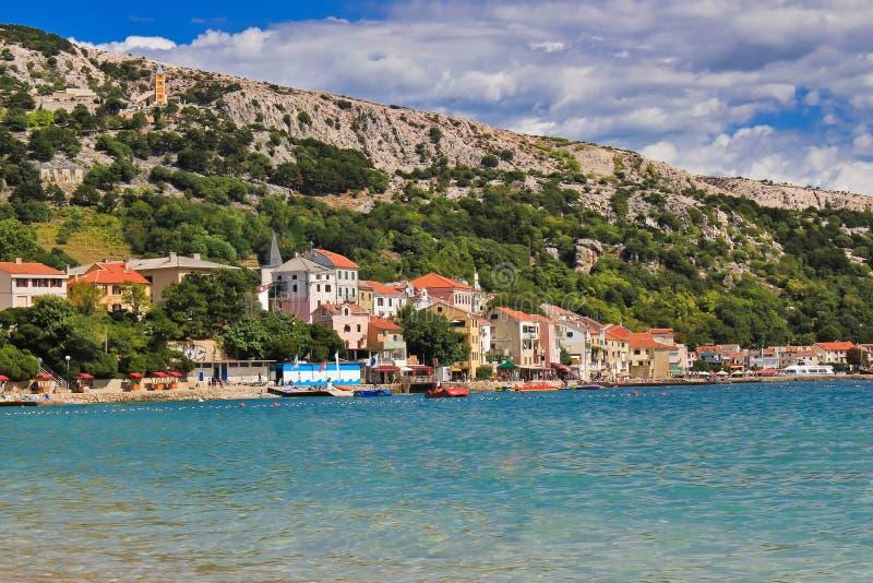 Adriatycki miasteczko Baska nabrzeże obrazy royalty free