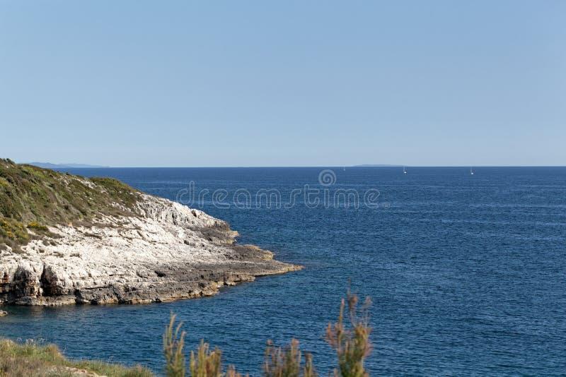 Adriatycki wybrzeże w Istria fotografia royalty free