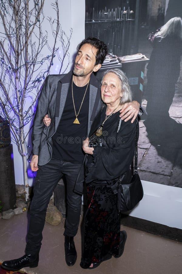 Adrien Brody на искусстве Нью-Йорке стоковые фото