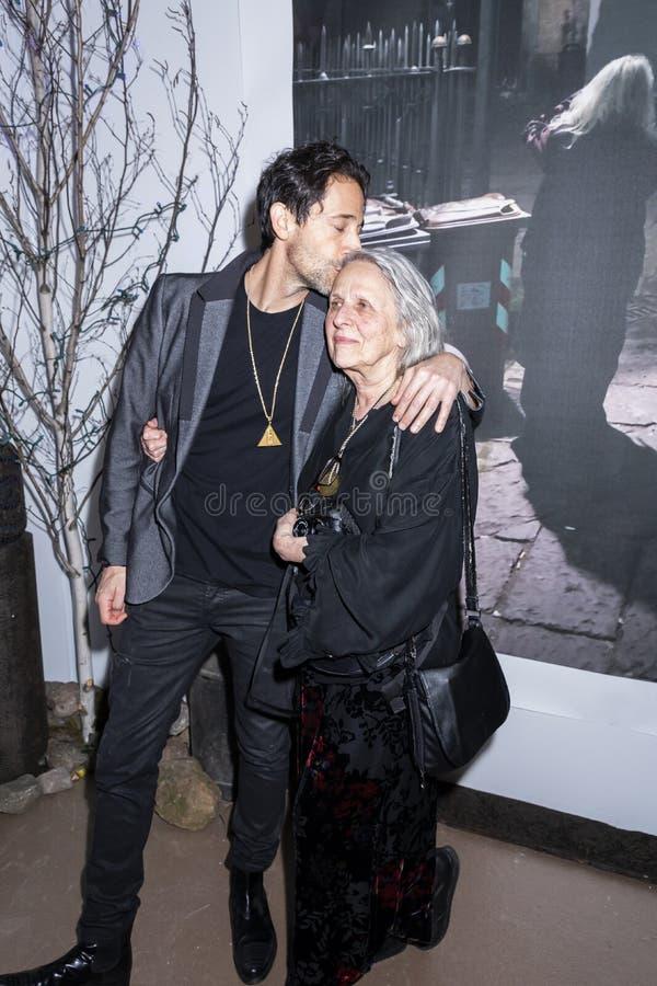 Adrien Brody на искусстве Нью-Йорке стоковые фотографии rf