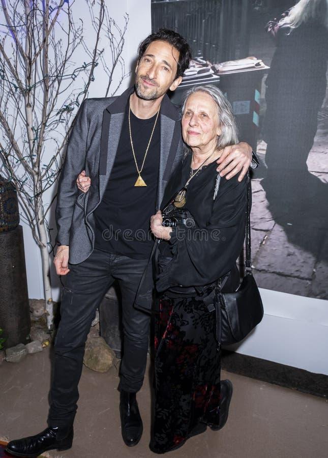 Adrien Brody на искусстве Нью-Йорке стоковая фотография