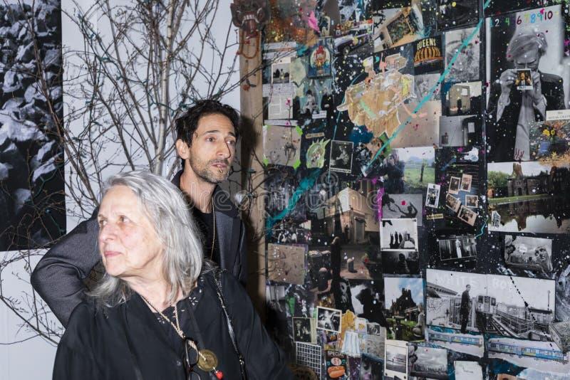 Adrien Brody на искусстве Нью-Йорке стоковое изображение