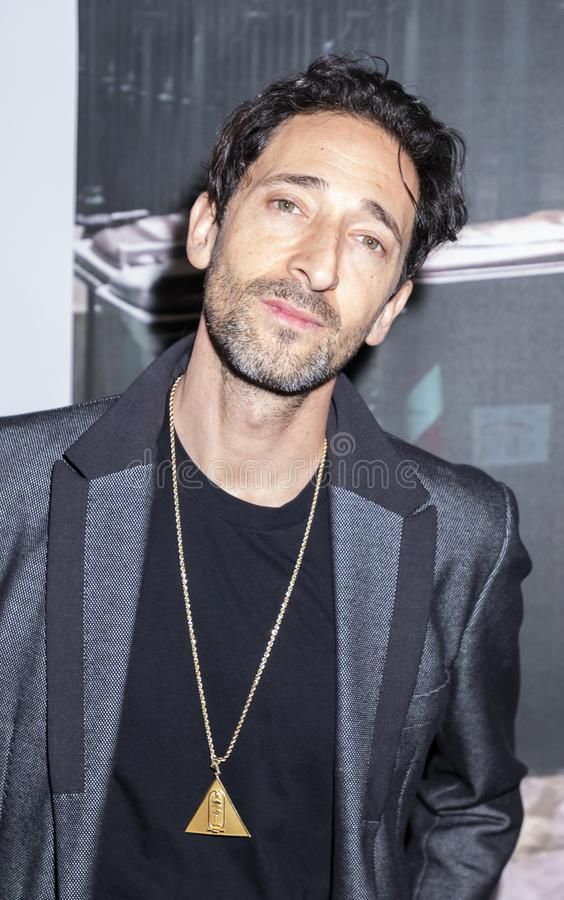 Adrien Brody på Art New York royaltyfri foto
