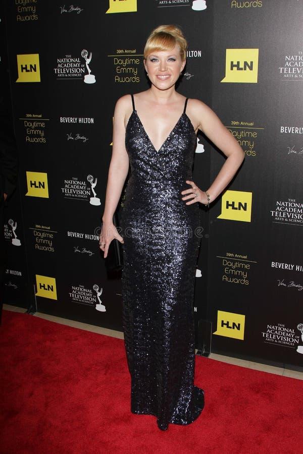 Adrienne Frantz en los 39.os Premios Emmy diurnos anuales, Beverly Hilton, Beverly Hills, CA 06-23-12 foto de archivo libre de regalías