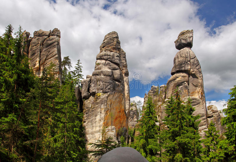 Adrspach mountain royalty free stock photos