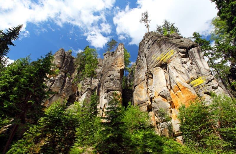 Adrspach-Teplice Rocks royalty free stock photos