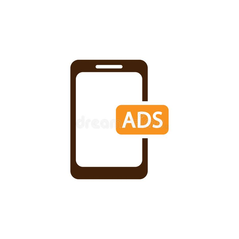 Ads, advertising icon. Element of Web Optimization icon for mobile concept and web apps. Detailed Ads, advertising icon can be. Used for web and mobile on white vector illustration