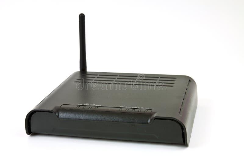 ADSL modem. Desktop Home ADSL modem on a white background stock photo