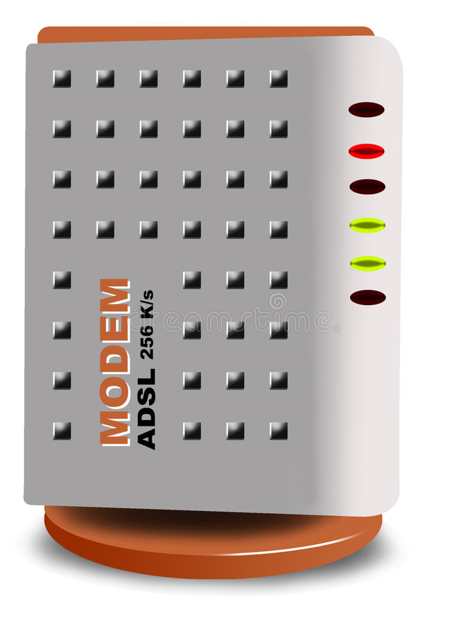ADSL Modem vector illustration