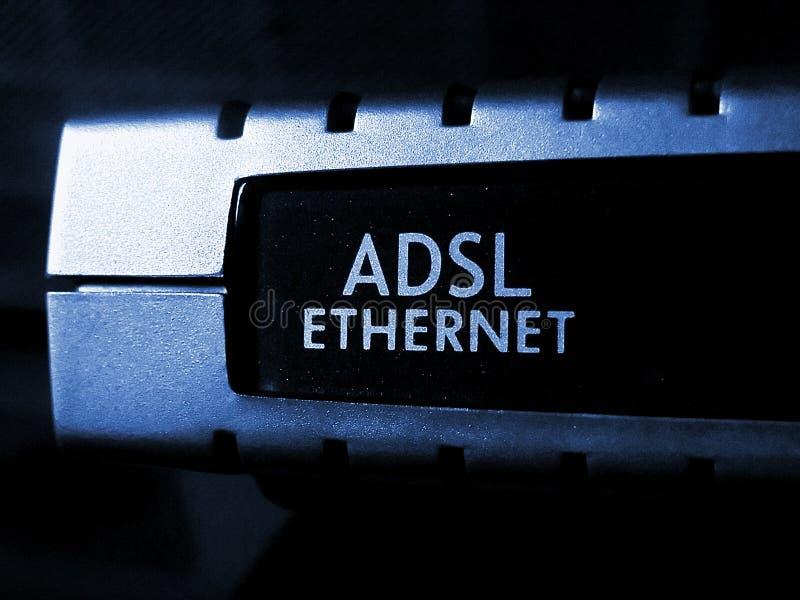 Adsl modem. Close-up royalty free stock image